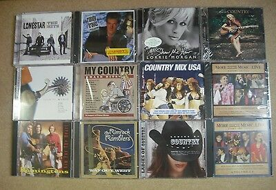 1 LOT OF 12  ASSORTED  CLASSIC COUNTRY  CDS  - NEW - SEALED  H