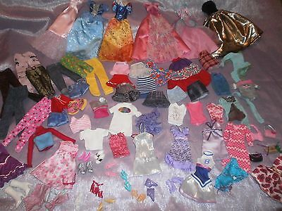 Large lot of Barbie doll clothes shoes and accessories