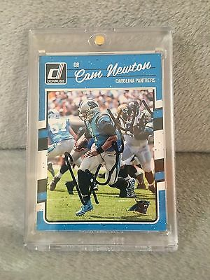 Cam Newton Signed Auto 2016 Panini Donruss Football - Great Autograph