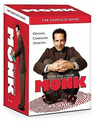 MONK the Complete DVD Series Collection seasons 1-8 32 Disc Set