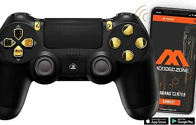 BlackGold PS4 PRO 40 MODS Modded Controller for COD games All Games CUH-ZCT2