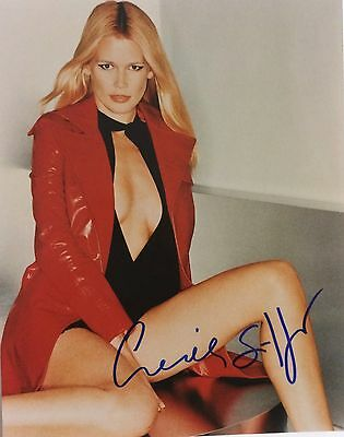 Claudia Schiffer Signed Autographed 8 x10 PHOTO  Supermodel With COA