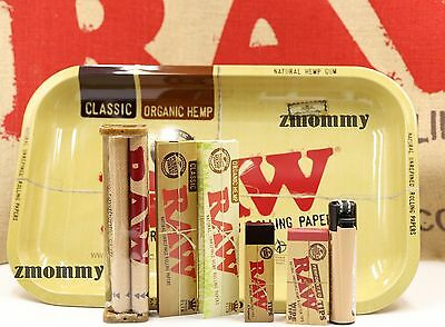 AUTHENTIC RAW PAPER KING SIZE COMBO TRAY-PAPERS-TIPS-ROLLING MACHINE-LIGHTER