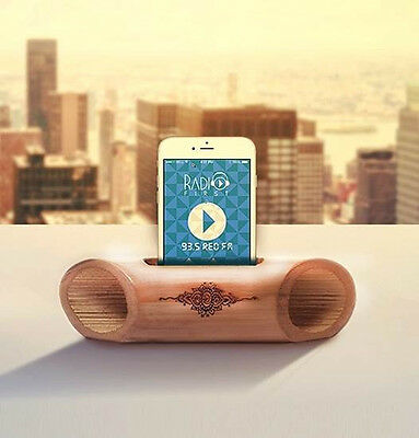 Handcraft Portable Bamboo Speaker Audio Dock for various PadTab No Electricity