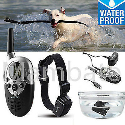 1000 Yard Rechargeable Waterproof LCD Shock Vibra Remote Pet Dog Training Collar