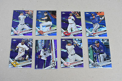 2017 Topps Chrome Purple refractor lot of 8