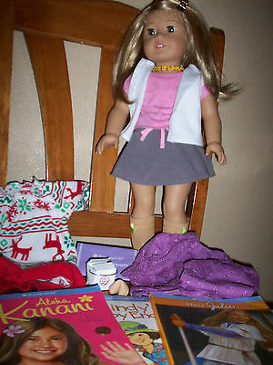 American Girl Doll Beautiful with Blonde Hair - Green Eyes