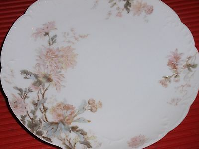 ANTIQUE HAVILAND LIMOGES HAND PAINTED PLATE FLORAL  7-5 INCHES