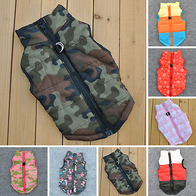 Camouflage Dog Jacket Pet Clothes Winter Warm Coat Puppy Cat Apparel Costume