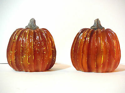 FALL THANKSGIVING DECOR MINI PUMPKIN SET OF 2 TABLE TOP
