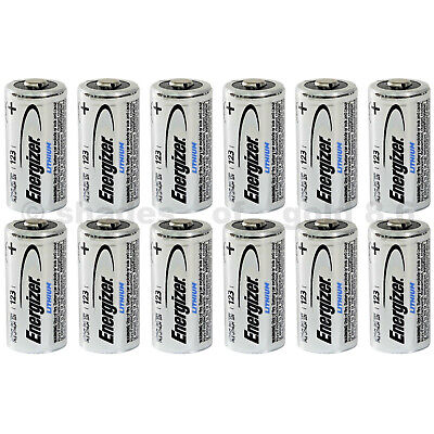 12 x CR123 Energizer 3V Lithium Batteries CR123A DL123 123 EL123 CR17345
