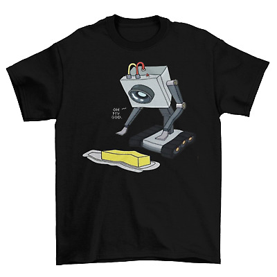 Rick and Morty Butter Robot T-Shirt Unisex Cotton Sizes Game You Pass Butter