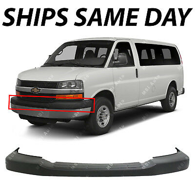 NEW - Textured Front Upper Bumper Cover for 2003-2018 Chevy Express - GMC Savana