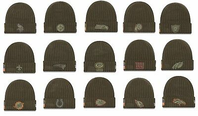 Mens NFL 2017 Salute To Service Knit Hat Several Teams