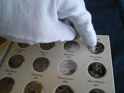 50 State Quarters Album with Territories Coin Collecting Binder Folder Book