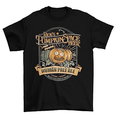 Rick and Morty Pumpkin Spice Beer T-Shirt Unisex Cotton Adult TV Halloween New
