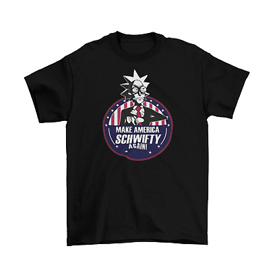 Rick and Morty Make America Schwifty Again T-Shirt Unisex Adult Funny Sizes New