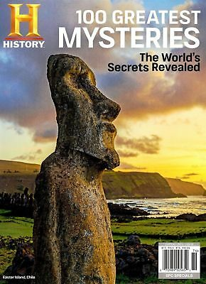 History Channel 100 Greatest Mysteries Worlds Secrets Revealed Magazine 2017
