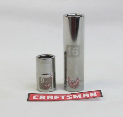 Craftsman Easy Read Socket 6 or12pt MM or SAE 38 or 12 Drive Standard or Deep