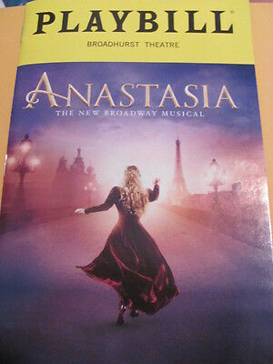 ANASTASIA Playbill Broadway Musical New York Stephen Flaherty
