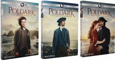 Poldark The Complete Series Seasons 1-3 DVD 9-Discs 1 2 3