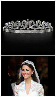 Kate Middleton Wedding Tiara Crown Replica Hair Costume Party Ladies Dress