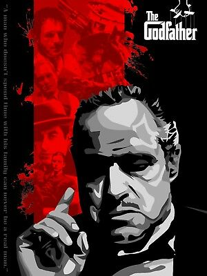 Godfather Limited Edition size 15 Custom Poster Nt Mondo 18x24
