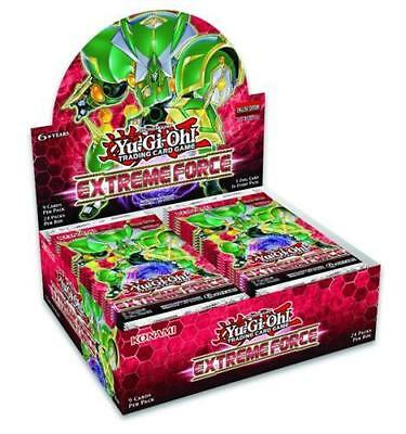 YUGIOH EXTREME FORCE 1ST EDITION FACTORY SEALED BOOSTER BOX 24 PACKS
