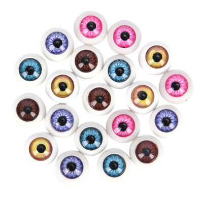 5 PAIR PLASTIC HALF ROUND FOR HALLOWEEN MASK DOLL EYES FAKE MASK EYEBALLS GIFTS