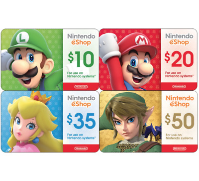 Nintendo eShop Digital Card - 10 20 35 50 - Email delivery