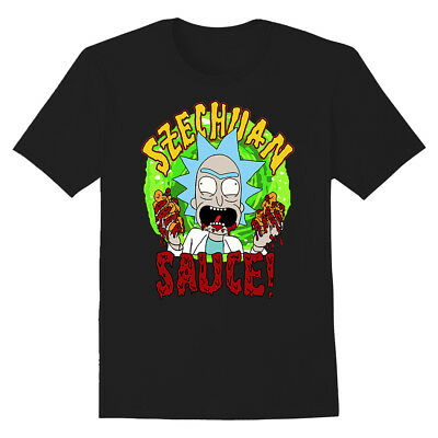 Rick and Morty Shirt Szechuan Sauce Graphic T-Shirt Schwan Grandpa Rick Mcdonald