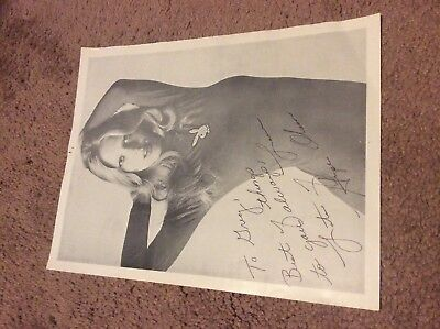 Hope Olson Signed Photograph Miss October 1976
