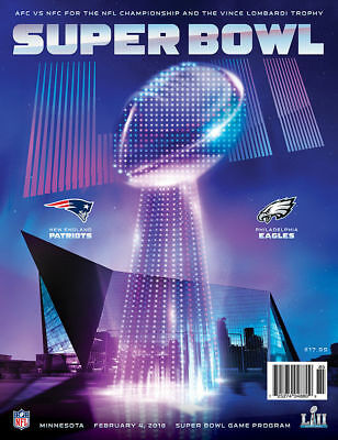 Super Bowl 52 Official National Game Program Patriots vs Eagles