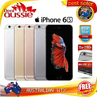 APPLE iPHONE 6S 16GB 64GB 128GB FACTORY UNLOCKED AU STOCK 100 ORIGINAL