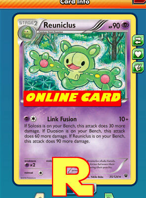 Reuniclus Playset Link Fusion  - for Pokemon TCG Online  ptcgo in Game Card