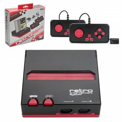 New Retro Entertainment System - 8 bit Nintendo NES Game Player - Red  Black