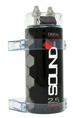 SoundBox SCAP2D 2-5 Farad Digital Capacitor for Car Audio - 2500 Watts