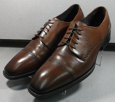 203477 MS50 Men's Shoes Size 8.5 M Gray Leather 1850 Series Johnston & Murphy