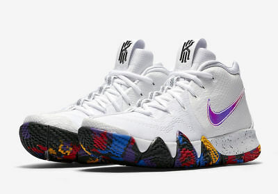 2018 Nike Kyrie 4 March Madness NCAA White Multi 943806-104 Mens