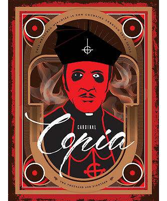 Ghost Cardinal Copia 18x24 Illustrated Poster Papa Emeritus Ghost Band Rats