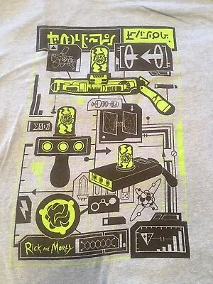 Rick and Morty Japanese- MENS T-Shirt - blue size 2XL - Get Schwifty - offers OK