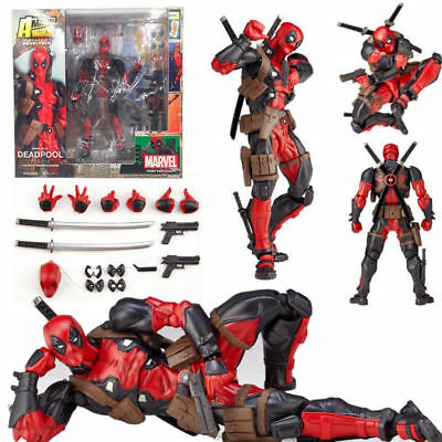 Marvel Legends X-men No-001 DEADPOOL Action Figure Revoltech Kaiyodo Toy Gift