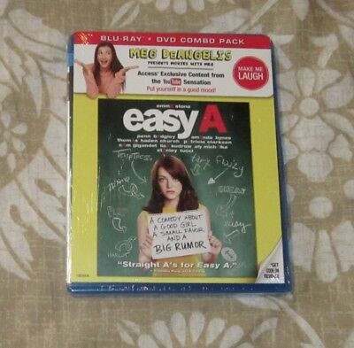 EASY A BLU RAY - DVD COMBO PACK BRAND NEW FREE SHIPPINGAMANDA BYNES
