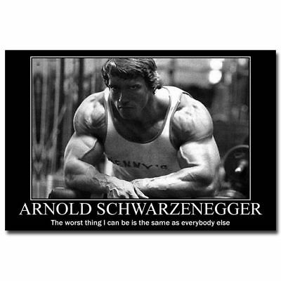 X-33 Arnold Schwarzenegger Fitness Bodybuilding Motivational Quotes Poster Art