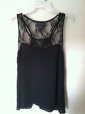 Forever 21 Plus Black Tank Top with Lace size XL