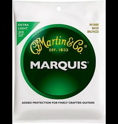 Martin M1000 Marquis 8020 Bronze Extra Light Acoustic Guitar Strings