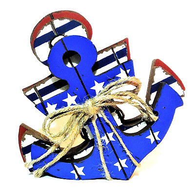 4TH OF JULY PATRIOTIC ANCHOR- NAUTICAL ANCHOR DECORATION- PATRIOTIC DECOR