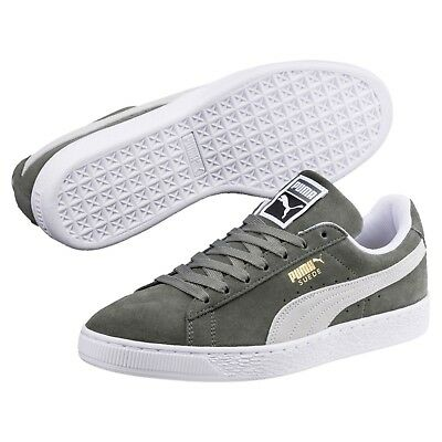 365347-05 New Mens PUMA Suede Classic Sneaker - Grey White