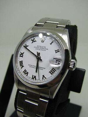 Amazing 29mm 1999 Midsize Rolex Datejust Ref- 68240 Stainless Steel SERVICED