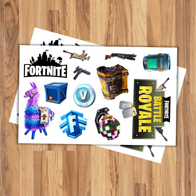 Fortnite Battle Royale Glossy Sticker Sheet 1 High Quality